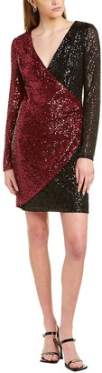 Laundry By Shelli Segal Sequin Wrap Dress