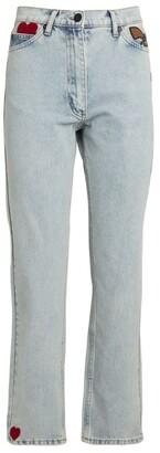 Natasha Zinko Heart-Detail Slim Jeans