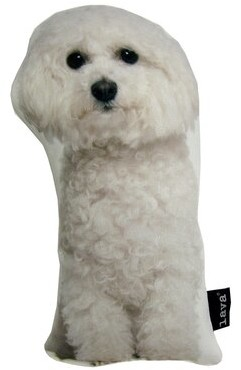 Lava Bichon Puppy Shaped Indoor/Outdoor Lumbar Pillow