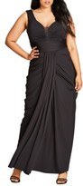City Chic Plus Size Women's Ruched Gown