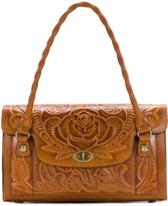 Patricia Nash Leather Burnished Tool Satchel - Sanabria