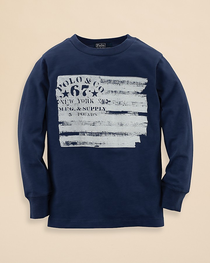 Ralph Lauren Boys' Long Sleeve Logo Tag Tee - Sizes 2-7