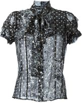 Haider Ackermann sheer printed blouse