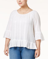 Style&Co. Style & Co Plus Size Ruffled Top, Only at Macy's