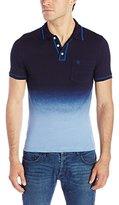 Original Penguin Men's Short Sleeve Indigo Dip Dye Polo Shirt