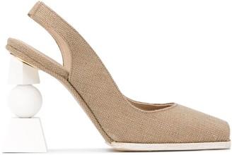 Jacquemus Les chaussures Valerie 100mm open-toe pumps