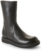 Rick Owens Black Leather Mid Rise Creeper Boots