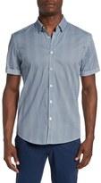 7 Diamonds Men's 'Sensation' Trim Fit Short Sleeve Print Woven Shirt
