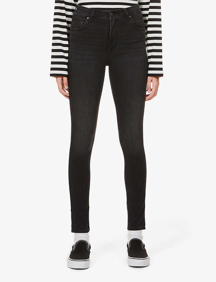 Levi's 721 Skinny High-Rise Cotton-Blend Denim Jeans