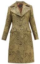Etro Cumbria Single-breasted Paisley-brocade Coat - Womens - Gold