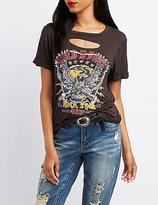 Charlotte Russe Wild & Free Destroyed Graphic Tee