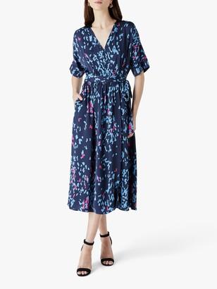 Finery Sabine Printed Wrap Dress, Multi