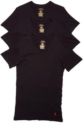 Polo Ralph Lauren Slim Fit Cotton V-Neck T-Shirt 3-Pack