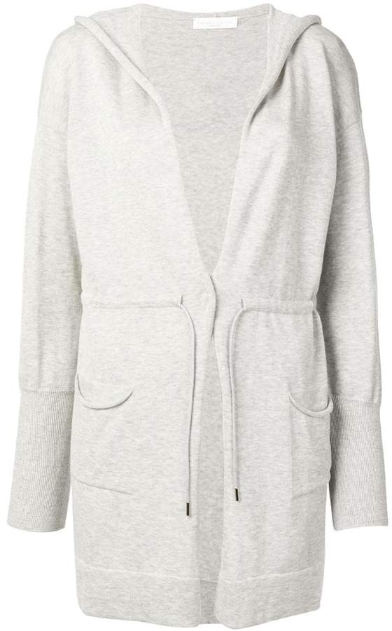 Fabiana Filippi hooded longline cardigan