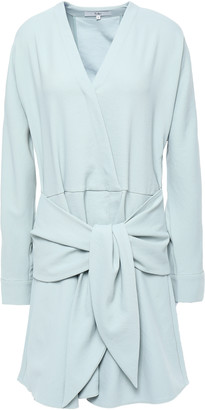 Tibi Wrap-effect Stretch-crepe Mini Dress