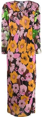 Rixo Floral Print Maxi Dress