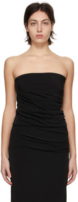 Helmut Lang Black Twist Tube Top