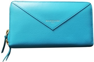 Balenciaga Turquoise Leather Wallets