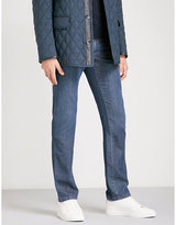 Brioni Chamonix Regular-fit Straight Cotton And Cashmere-blend Jeans