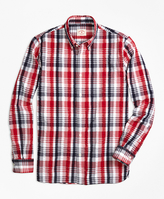 Brooks Brothers Plaid Seersucker Sport Shirt