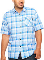 Ecko Unlimited Unltd Short Sleeve Plaid Button-Front Shirt-Big and Tall