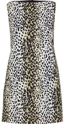Max Mara Nino Cutout Leopard-print Cotton Top