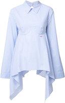 Off-White striped open back shirt - women - Cotton - XS