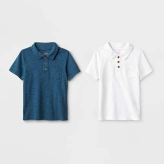 Cat & Jack Toddler Boys' 2pk Short Sleeve Polo Shirt - Cat & JackTM White/