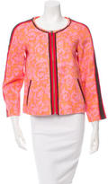 Elizabeth and James Printed Collarless Jacket w/ Tags