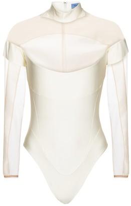 Thierry Mugler Paneled mesh bodysuit