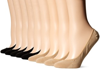 Hue Women's Classic Low Cut Liner Socks with Silicone Tab-8 Pair Pack