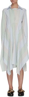 J.W.Anderson Multi Stripe Handkerchief Hem Shirt Dress