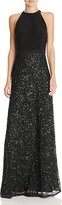 Adrianna Papell Sequin Skirt Gown