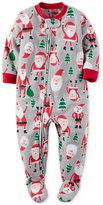 Carter's 1-Pc. Santa-Print Footed Pajamas, Little Boys (2-7)