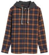 Vans Men's Lopes Hooded Plaid Shirt Jacket