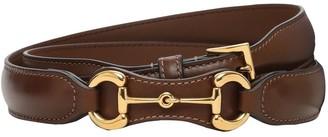 Gucci 2.3cm Horsebit Leather Belt