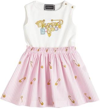 Versace COTTON JERSEY & POPLIN DRESS
