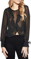 Bardot Spotty Frill Top