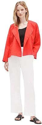 Eileen Fisher Drape Front Jacket (Geranium) Women's Clothing