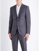 The Kooples Micro-patterned Slim-fit Wool Jacket