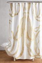 Thomas Paul Golden Octopus Shower Curtain