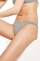 Topshop Women's Metallic Stripe Bikini Bottoms