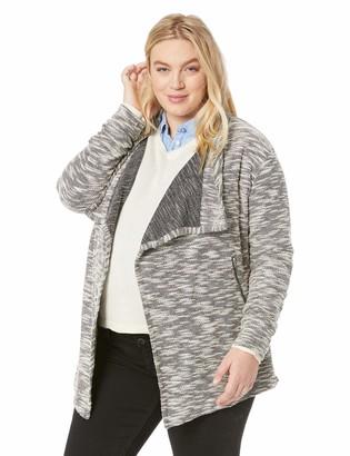 Motherhood Maternity Women's Maternity Plus-Size Hacci Drape Neck Moto Jacket
