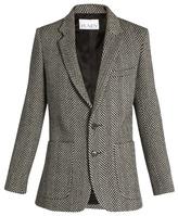 Raey Long-line herringbone wool blazer