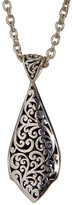 Lois Hill Sterling Silver Jared Granulated & Cutout Double Sided Pendant Necklace
