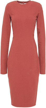 Rick Owens Open-back Textured Cotton-blend Midi Dress