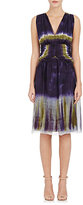 Alberta Ferretti WOMEN'S CHIFFON V-NECK DRESS