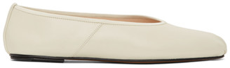 The Row Off-White Ballet Slippers