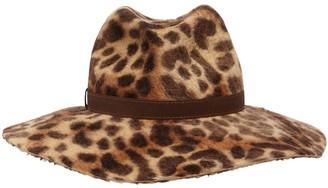 Borsalino Sophie Leopard Printed Rabbit Felt Hat