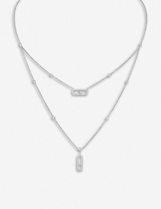 Messika Move 18ct white-gold and diamond necklace